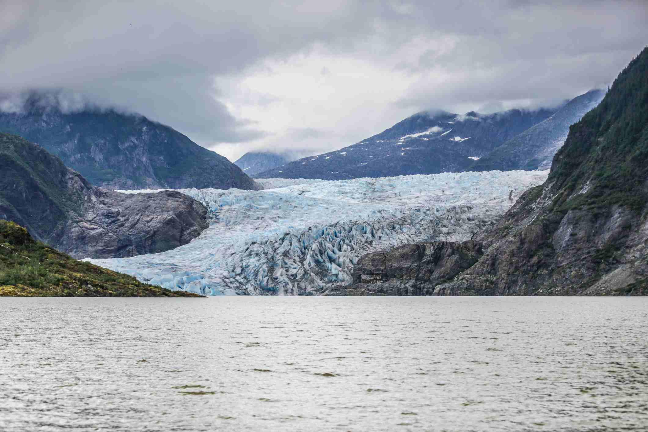 The Mendenhall Glacier in Juneau, Alaska
