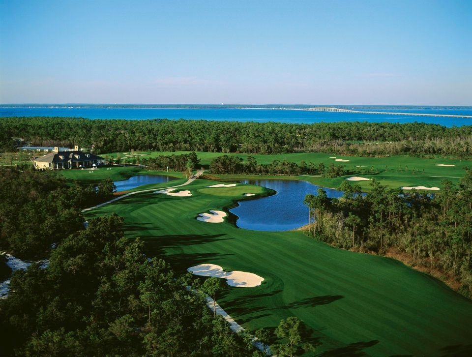 The course at Kelly Plantation Golf Club