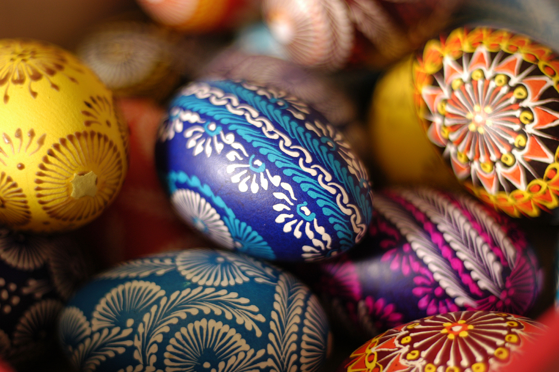 Colorful Polish Easter Eggs