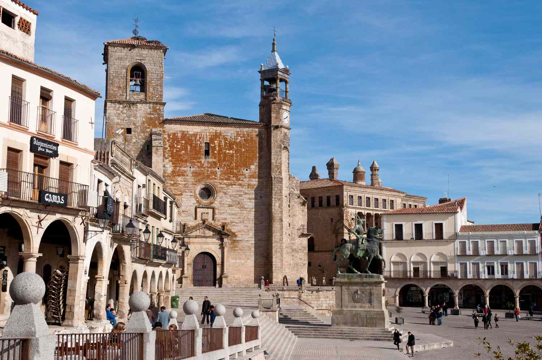 Main square in Trujillo, Spain