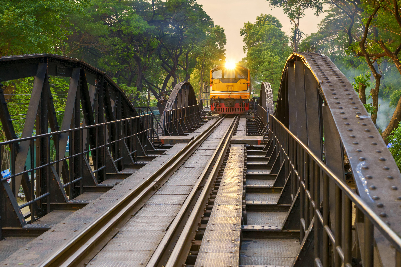 The bridge on the River Kwai in Kanchanaburi