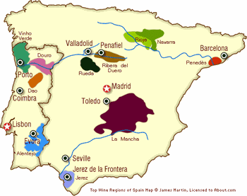 Map Of Spain With Distances.Andalusia Spain Cities Map And Guide