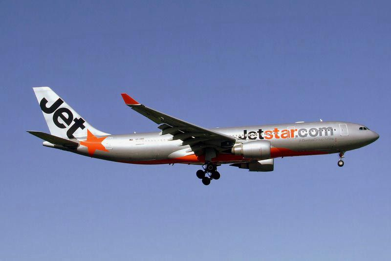 Jetstar Airways plane in mid-flight