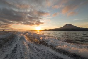 Sunset over Pico Island in The Azores