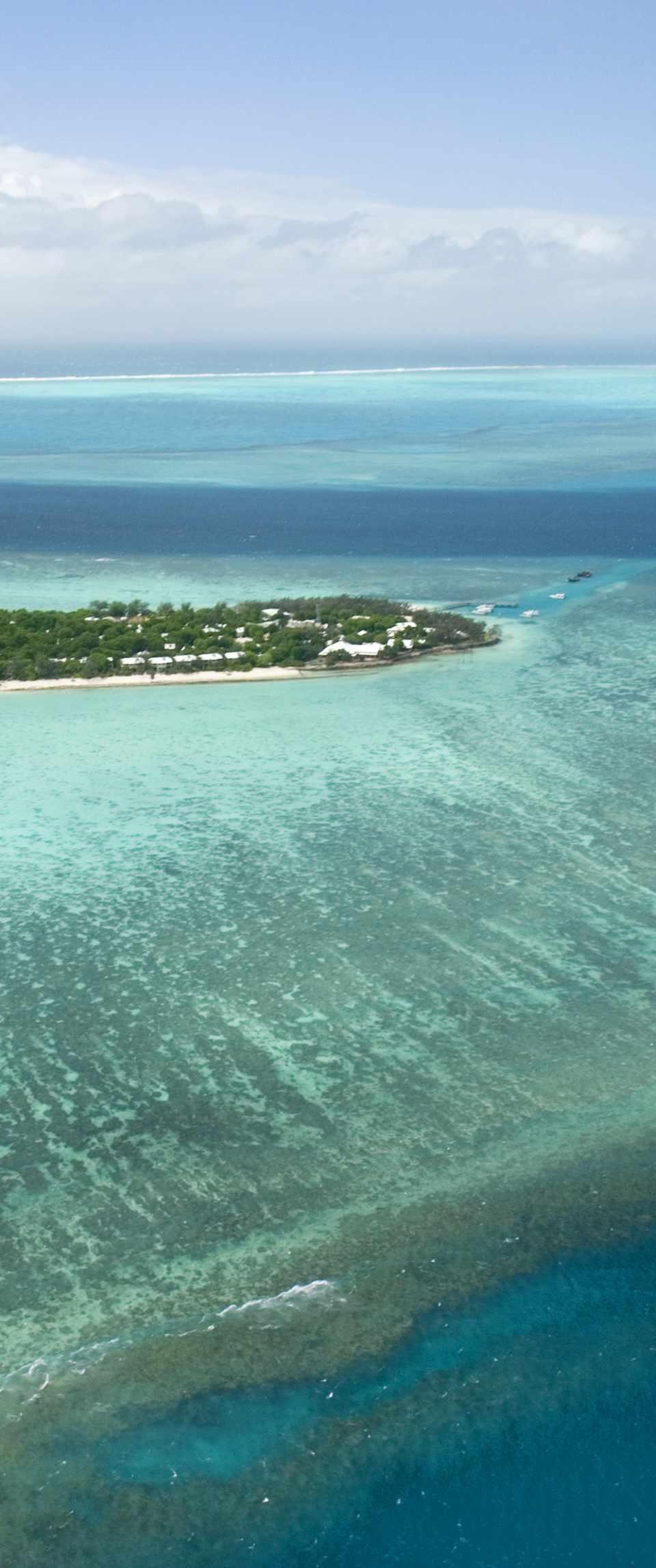 Small island on the ocean