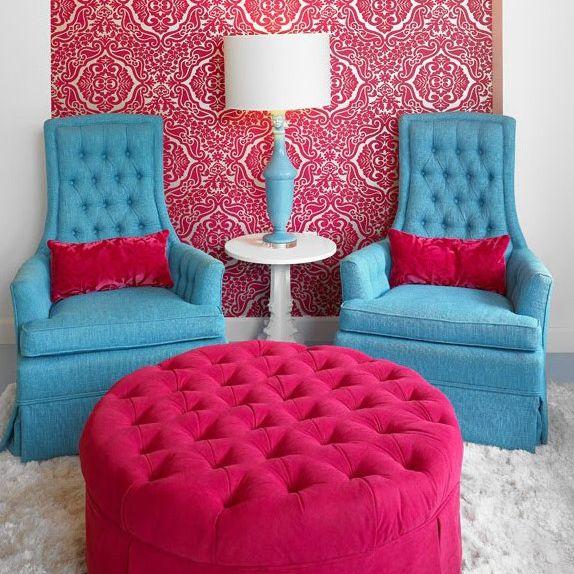 Colorful decor at Polished Beauty Lounge, Atlanta, GA