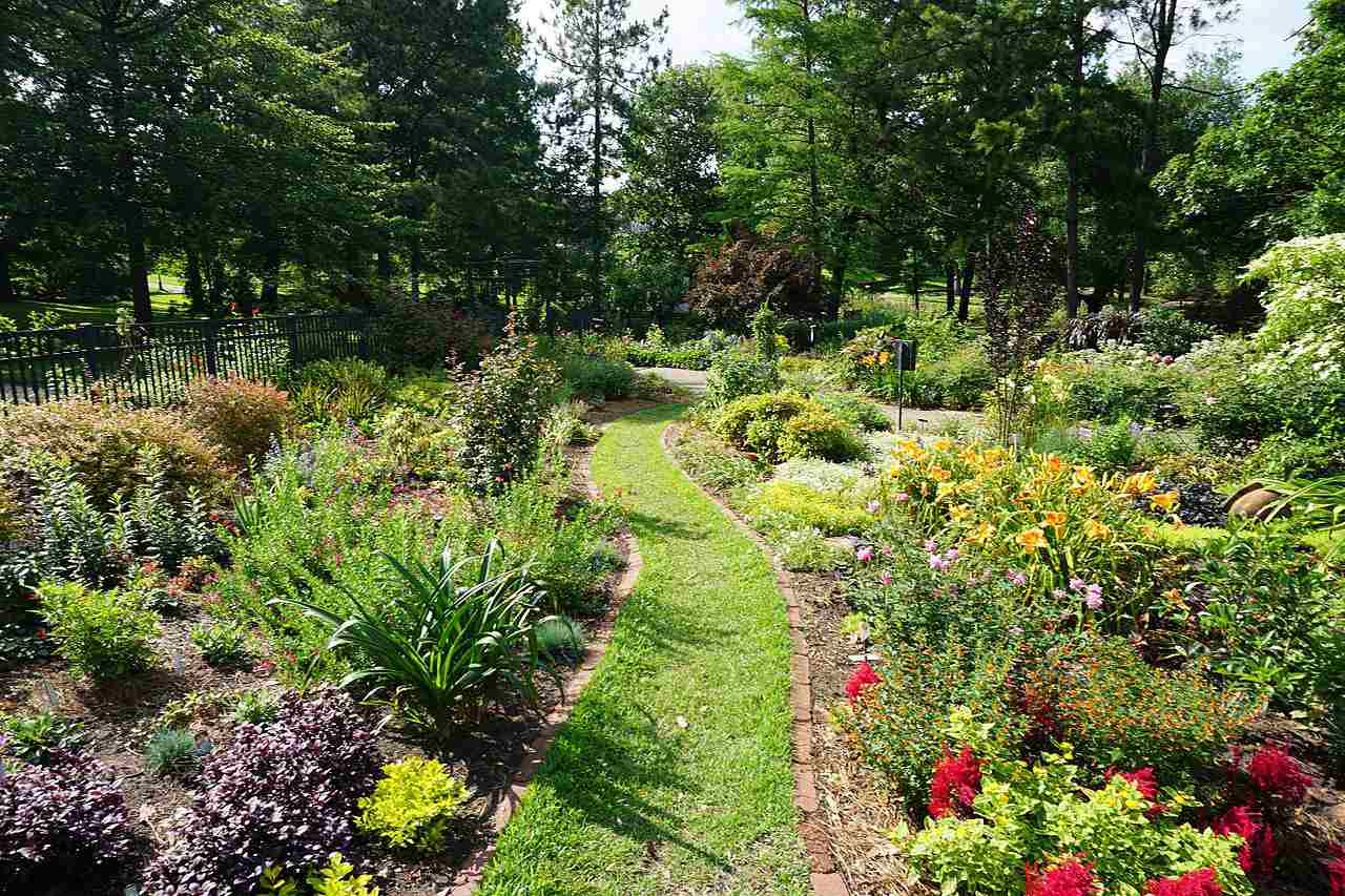The Rose Garden at the Rose Garden Center in Tyler, Texas