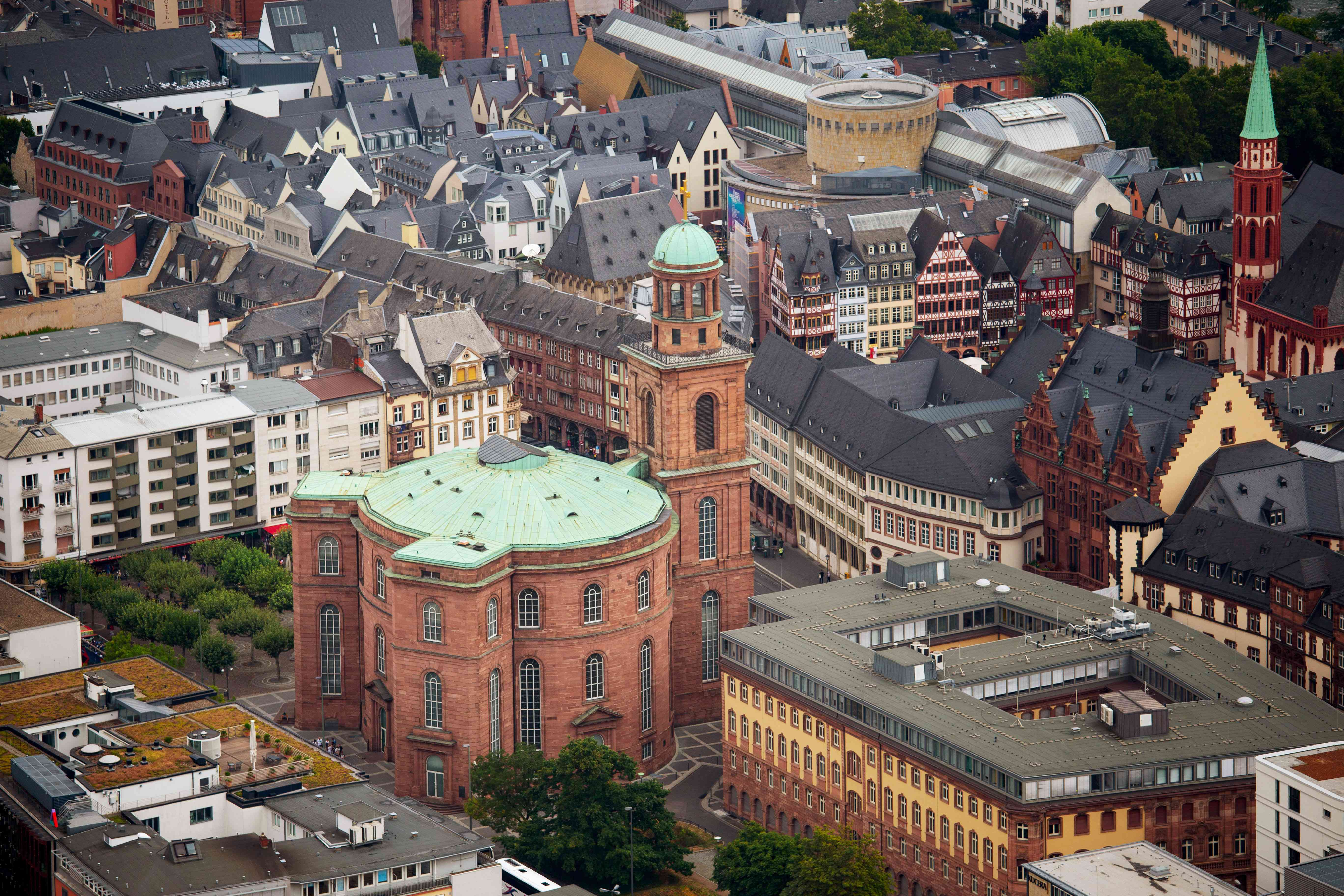 Aerial view of Church of St Paul