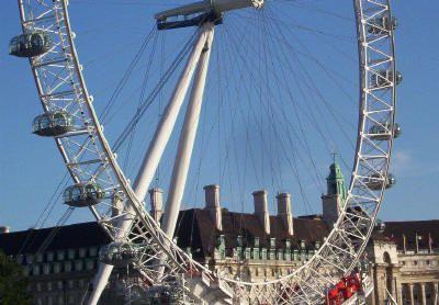 London Eye - semicírculo. Foto © Teresa Plowright.