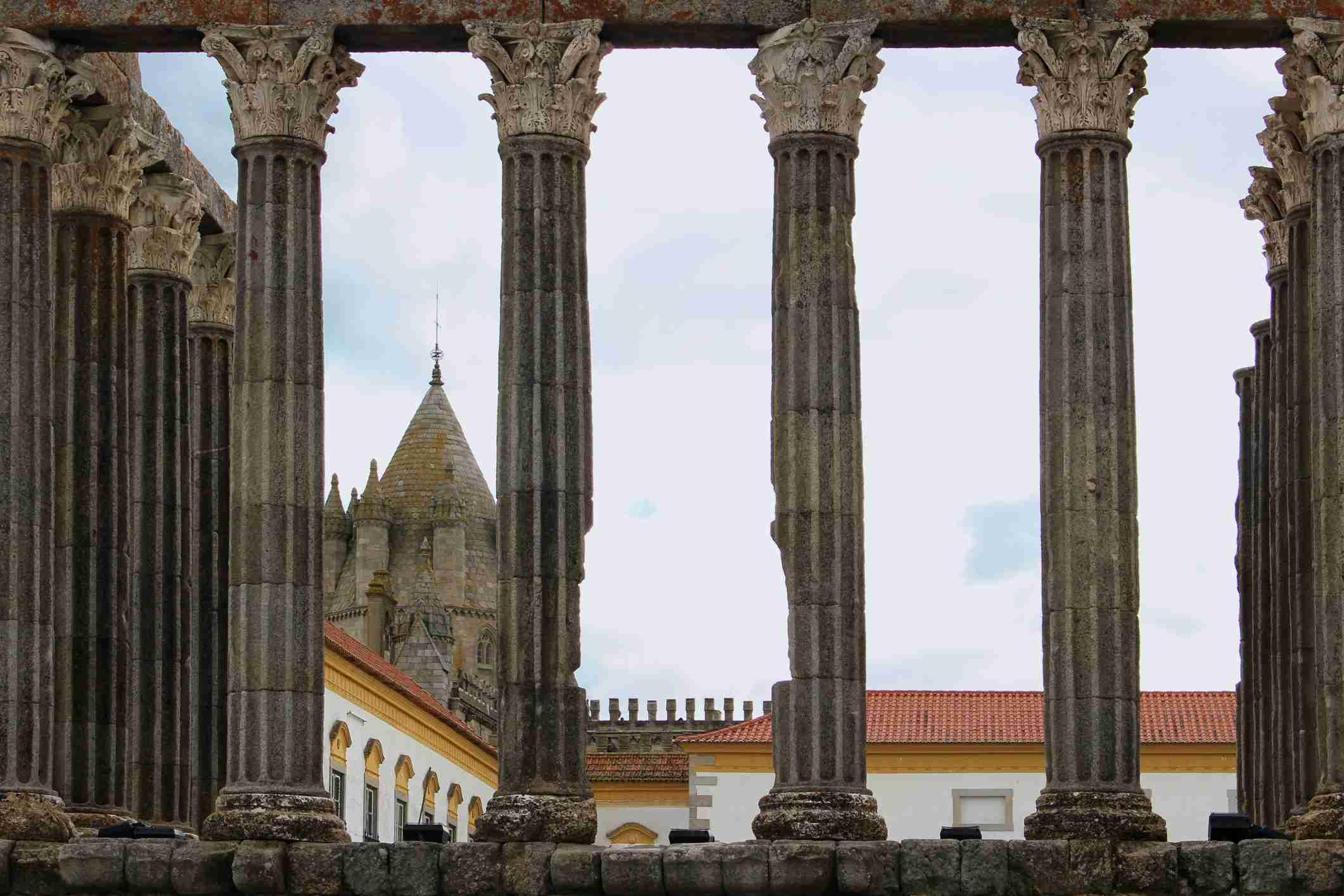 Roman Temple of Evora, Portugal