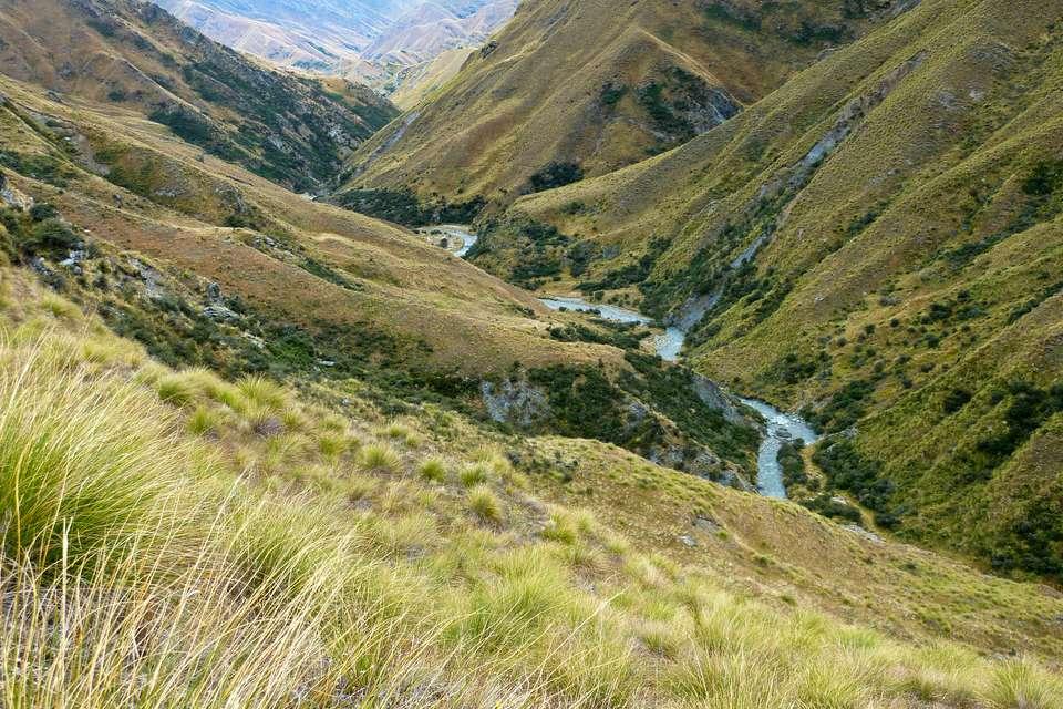 Por encima del río Arrow, Motatapu Track