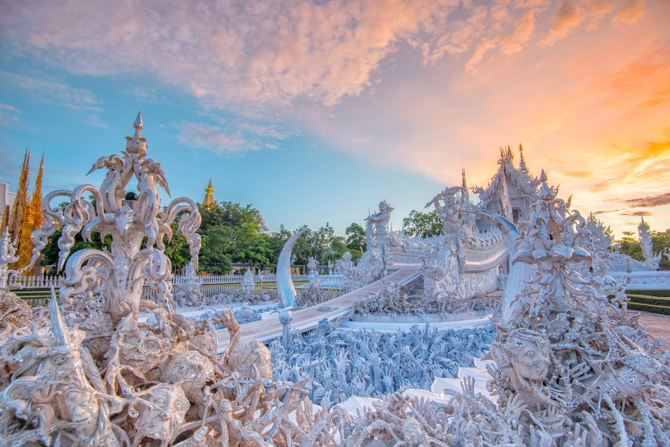 Artwork at the White Temple in Chiang Rai, Thailand