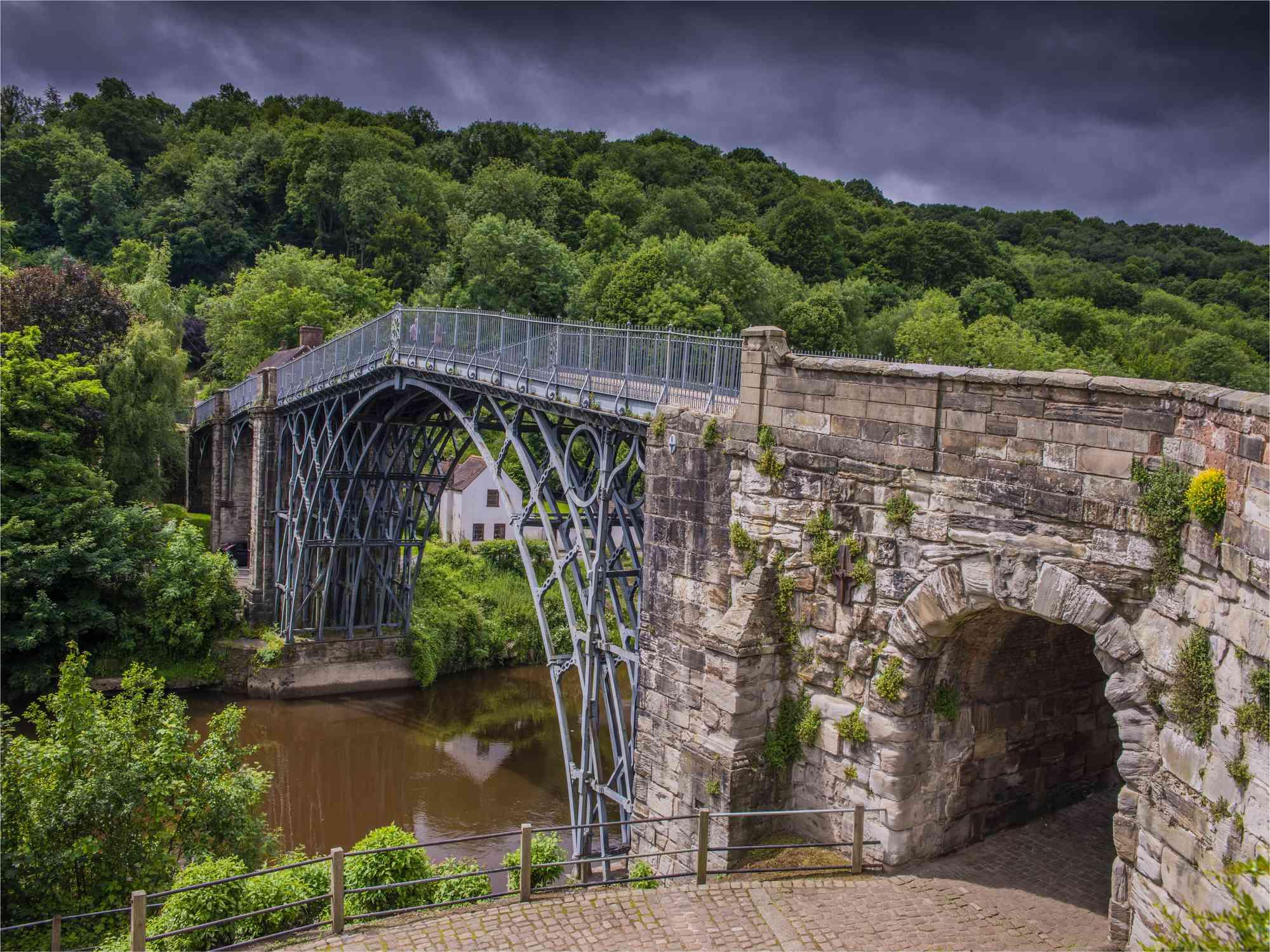 The Iron Bridge at Severn Shropshire, England