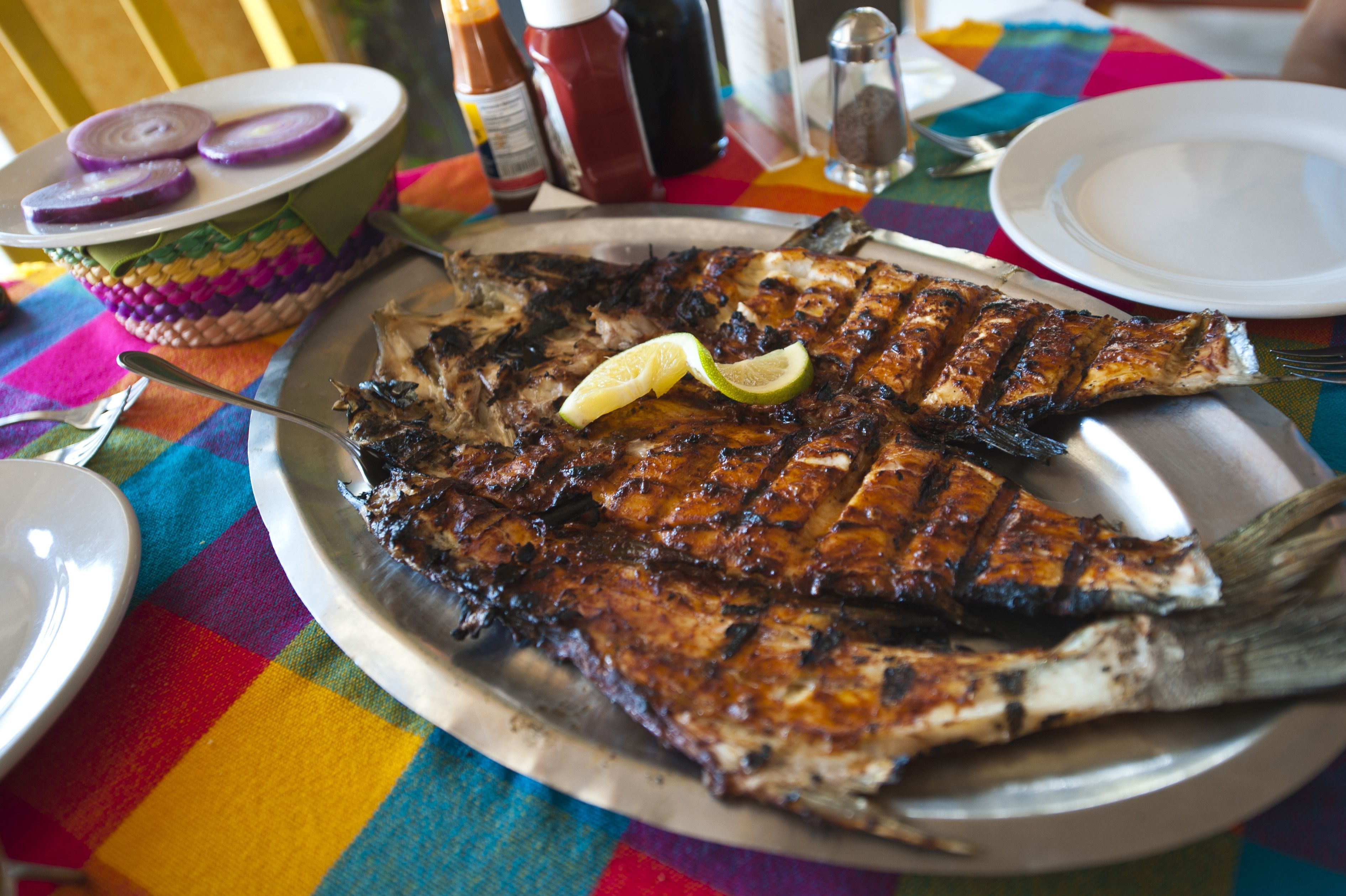 Grilled fish: Mexican cuisine on the Pacific coast of Mexico