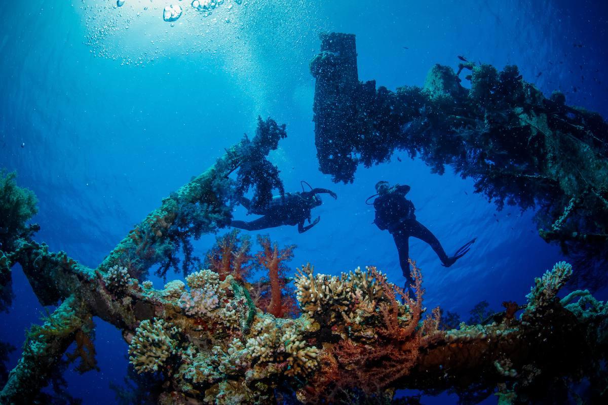 scuba diving the red sea in Jordan