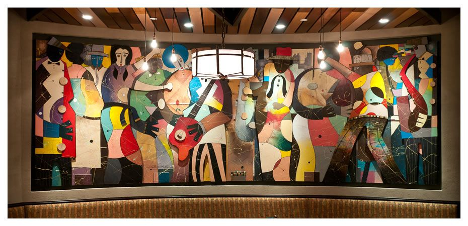 jazz mural in Sweet Georgia's Juke Joint