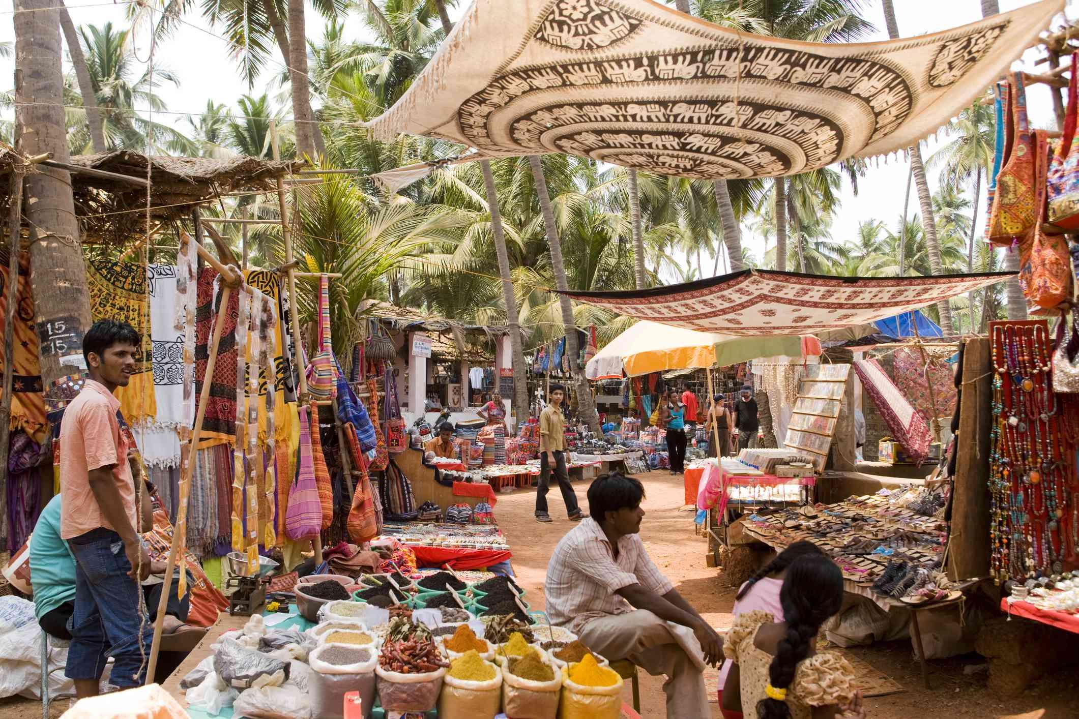 Anjuna flea market, Goa.