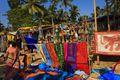 Anjuna beach during Wednesday Flea Market, Goa
