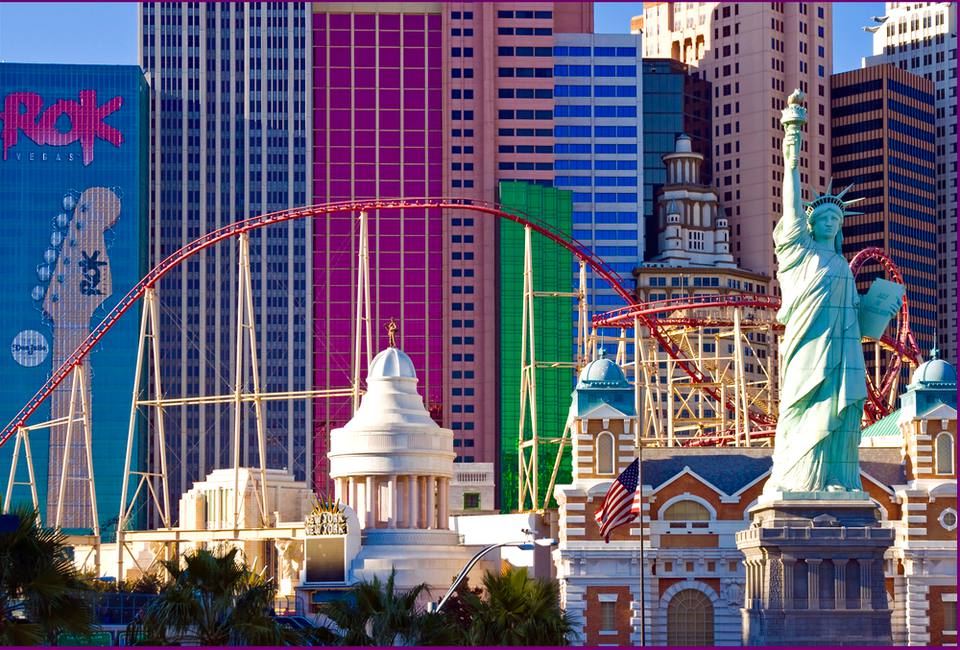 View of Las Vegas Strip hotels