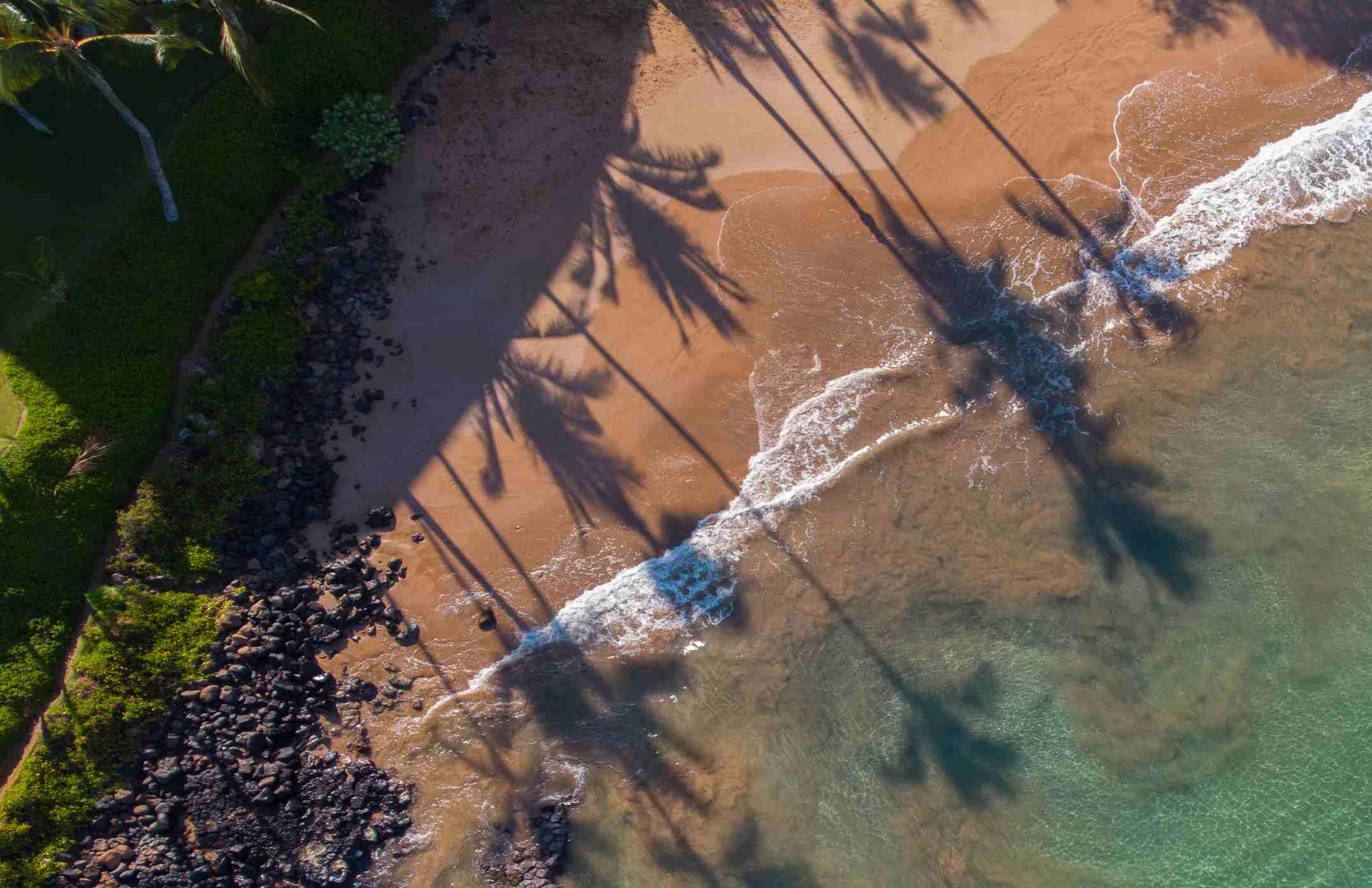 The beach at Kihei, Maui Hawaii