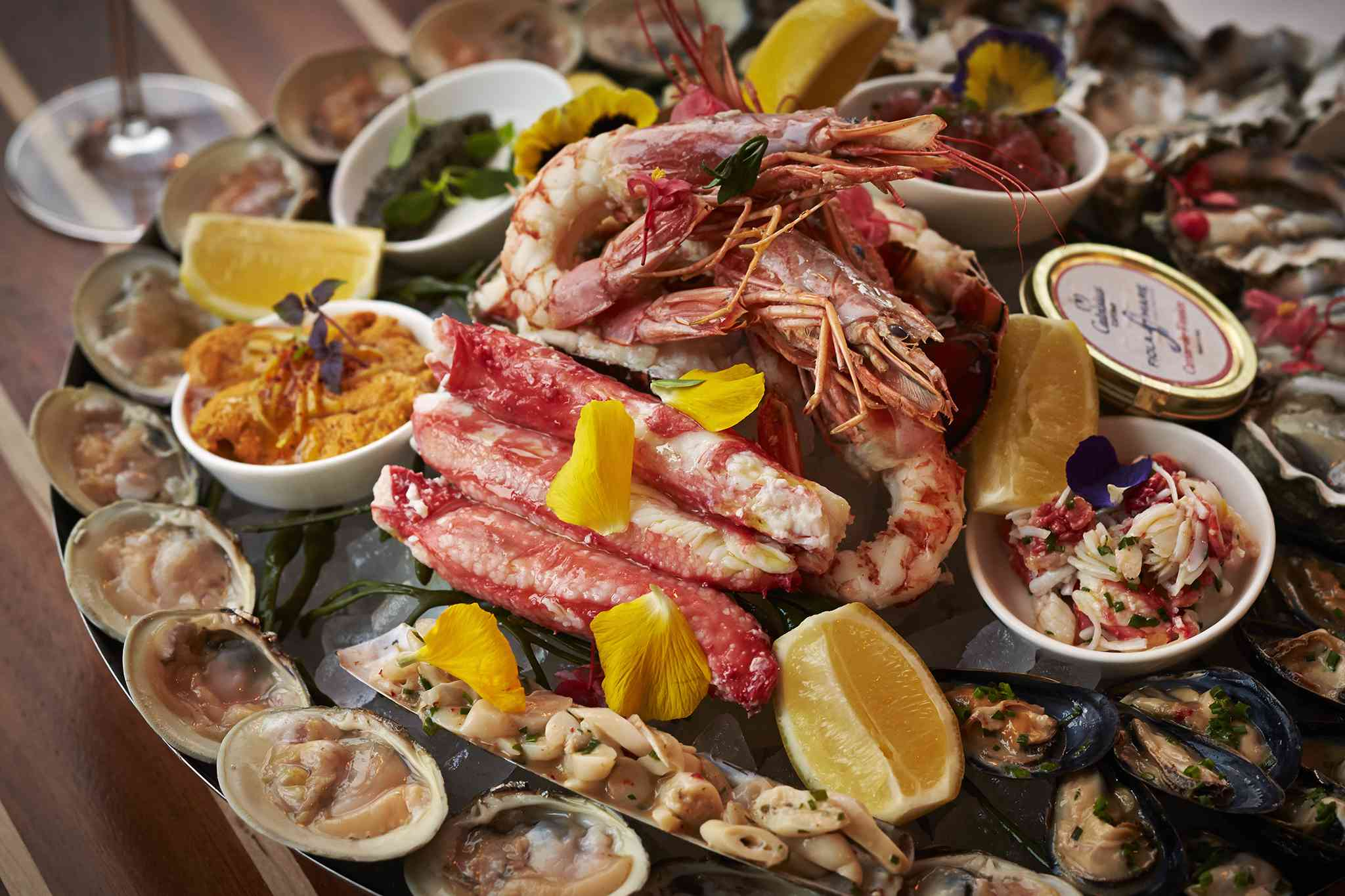 seafood tower at Fiola Mare