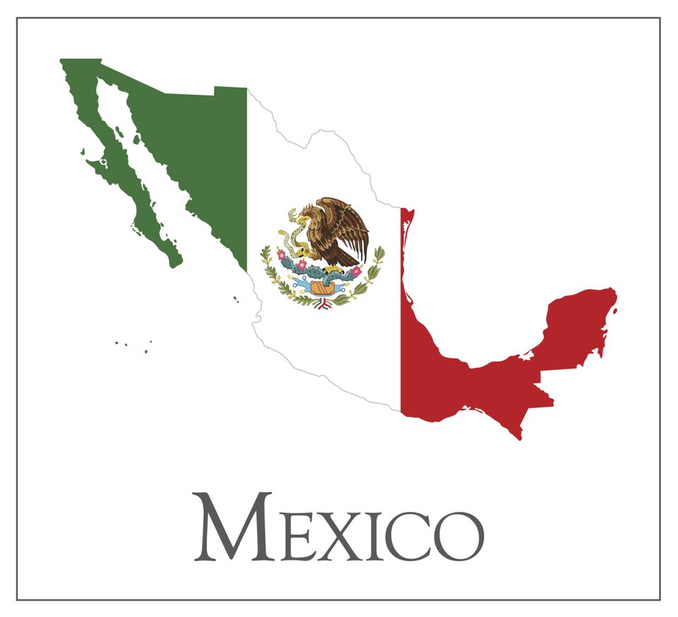 Mexico Map Flag