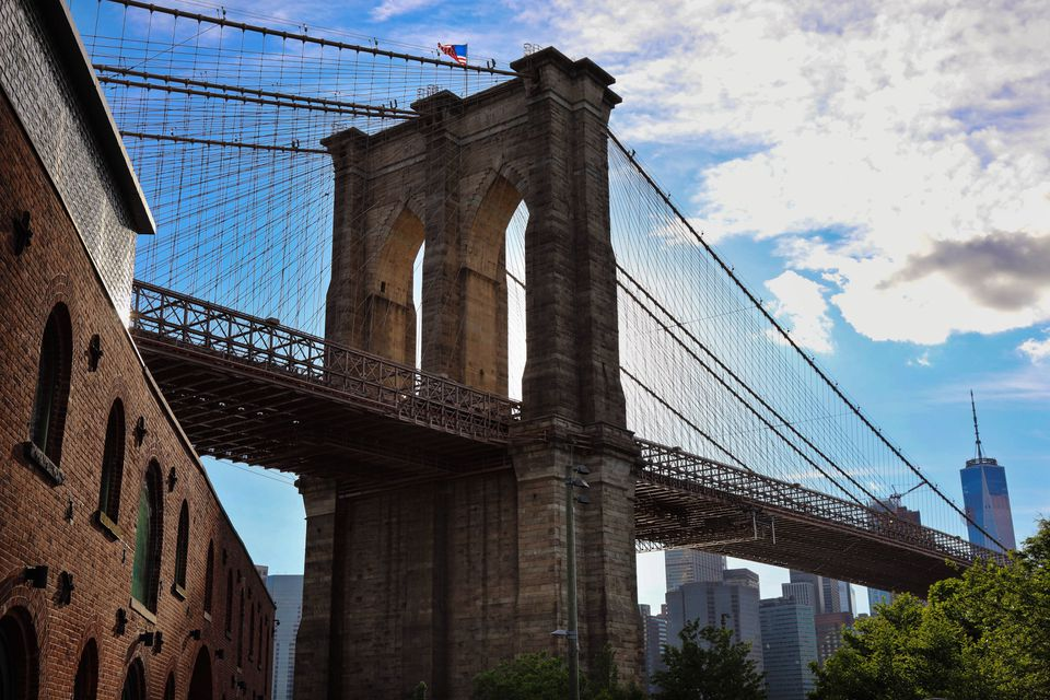 A view of the BK bridge from the brooklyn side