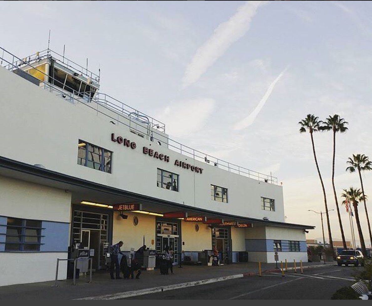 The entrance to Long Beach Airport