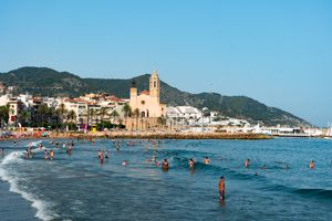 Sitges Beach in Barcelona
