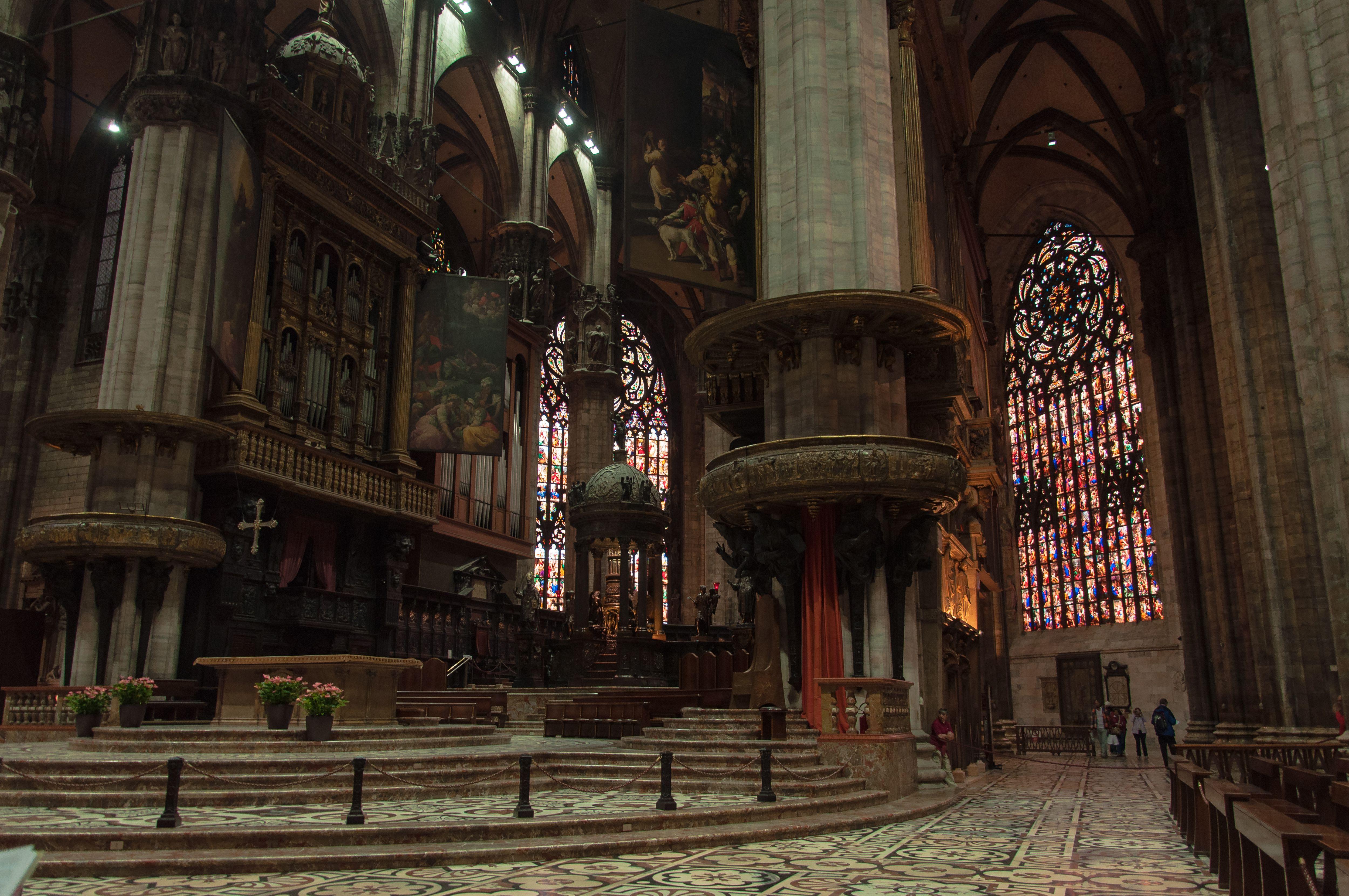 Inside of the Duomo di Milano, Milan Cathedral