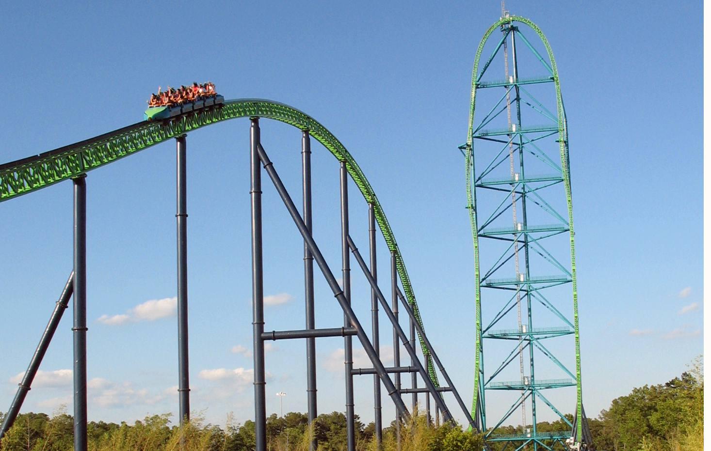 Kingda Ka coaster at Six Flags Great Adventure