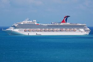 Carnival Liberty off the coast of Belize