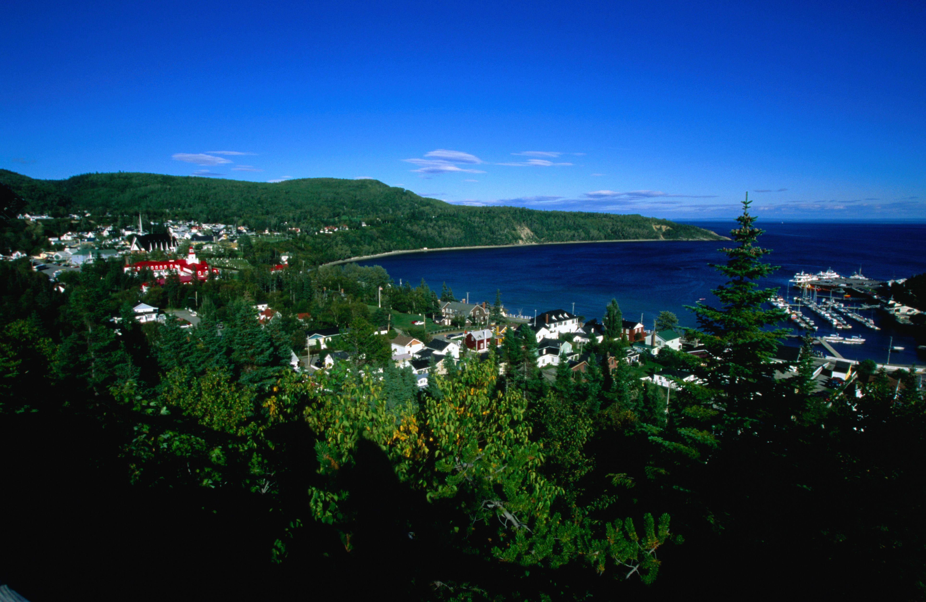 A view of coastal Tadoussac in Quebec.