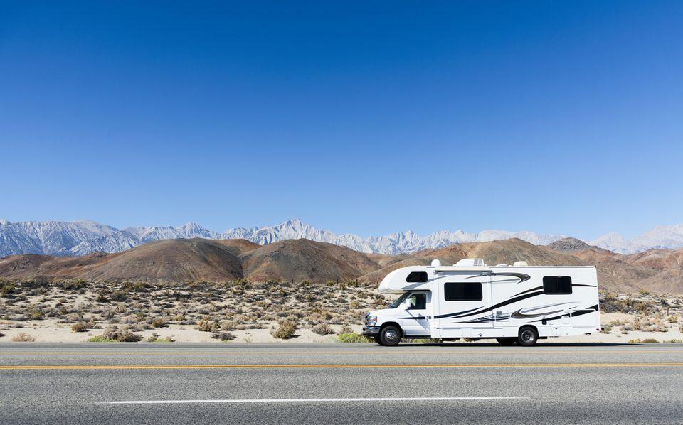 Camper and Eastern Sierras