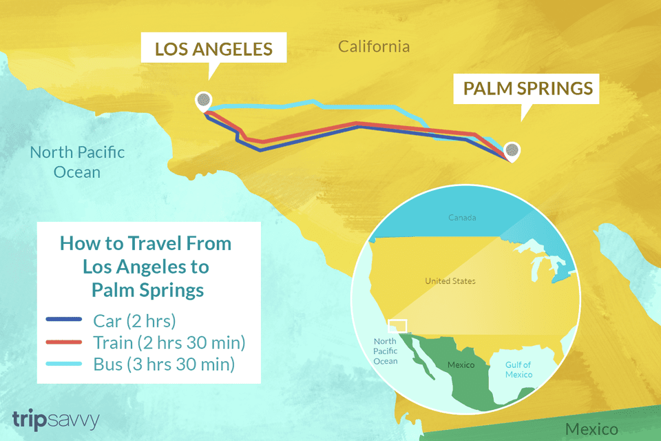 How to travel from LA to Palm Springs