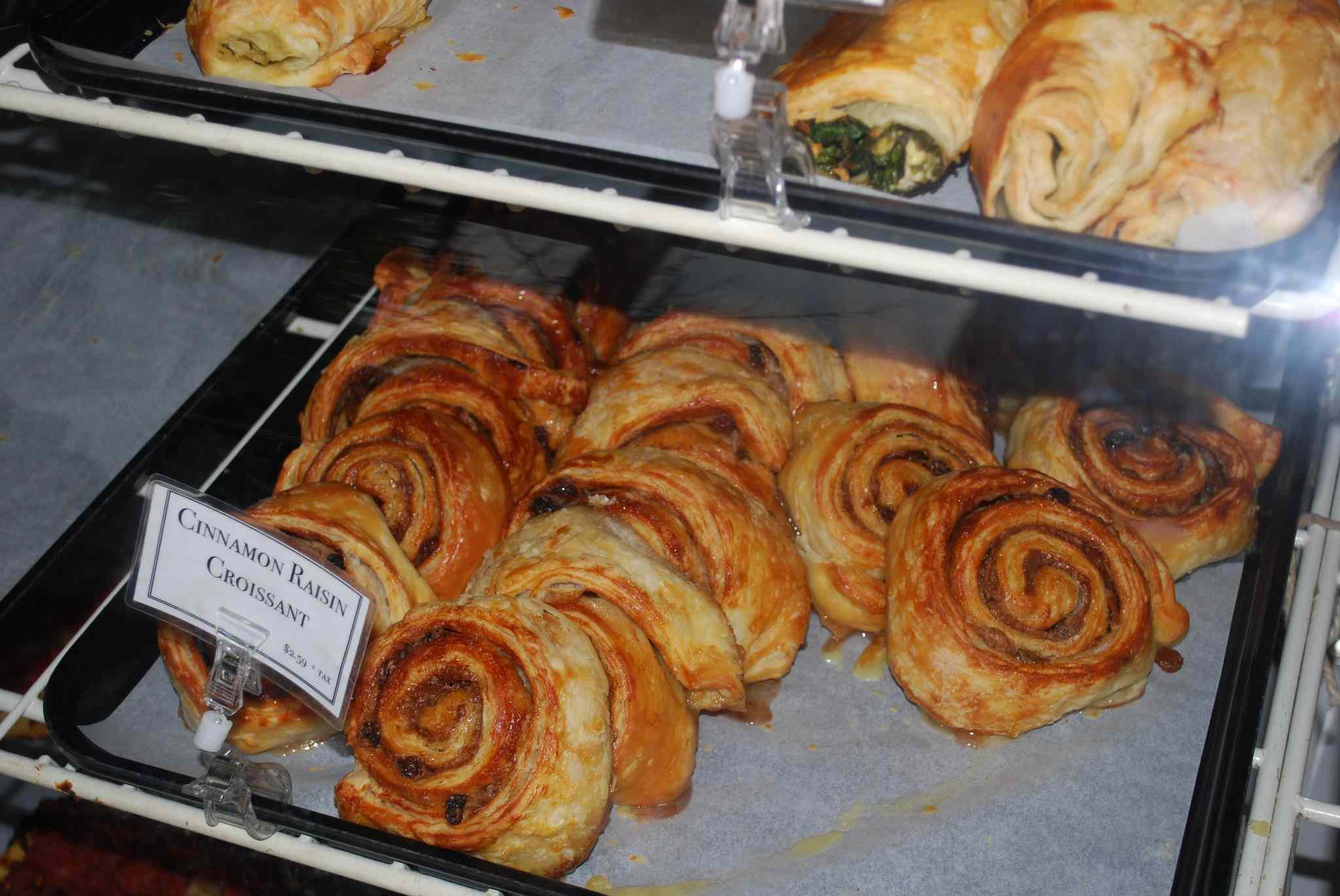 Cinnamon raisin croissants at Medici on 57th's bakery