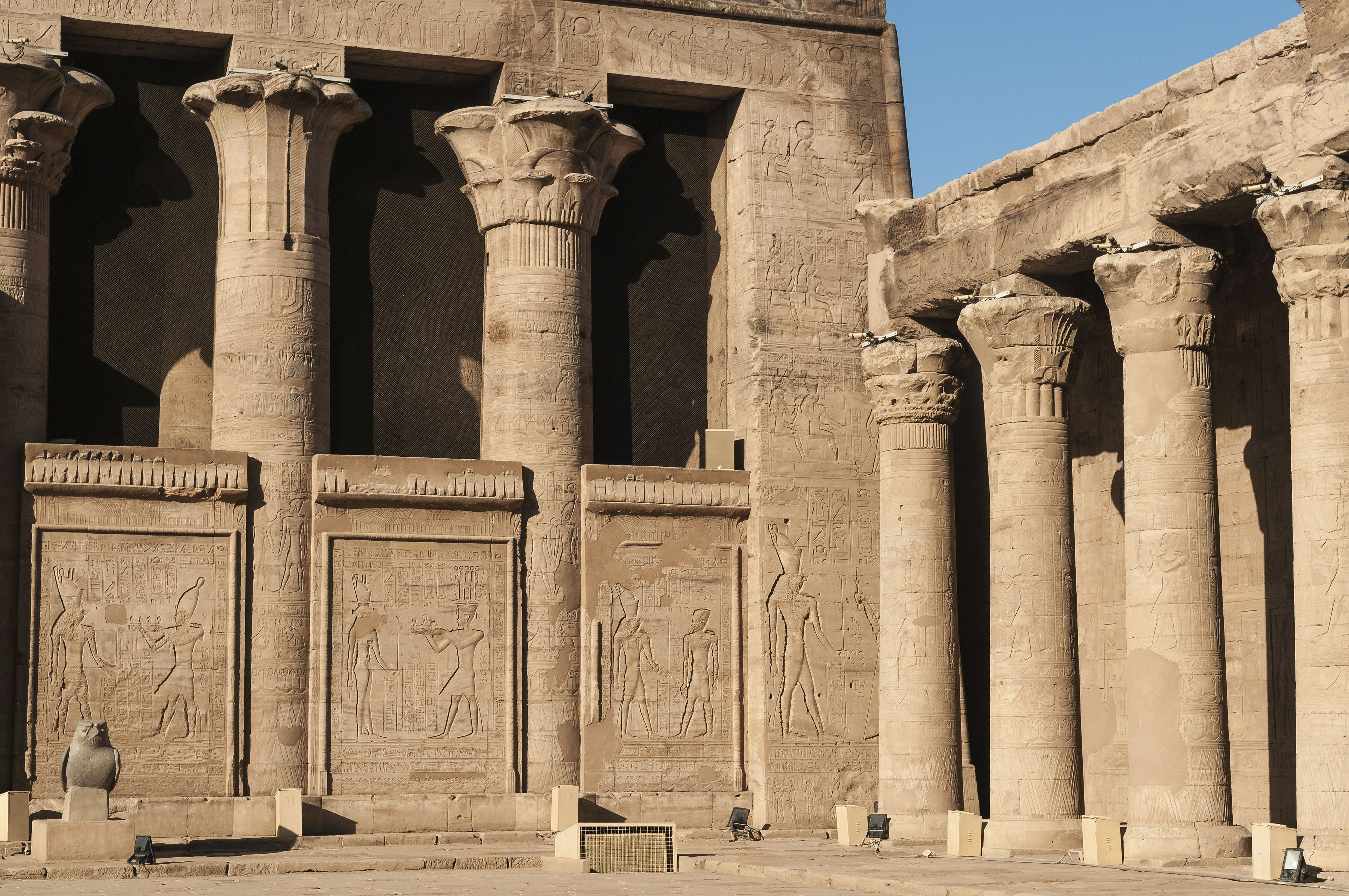 Sets of Columns at Temple of Horus, Egypt