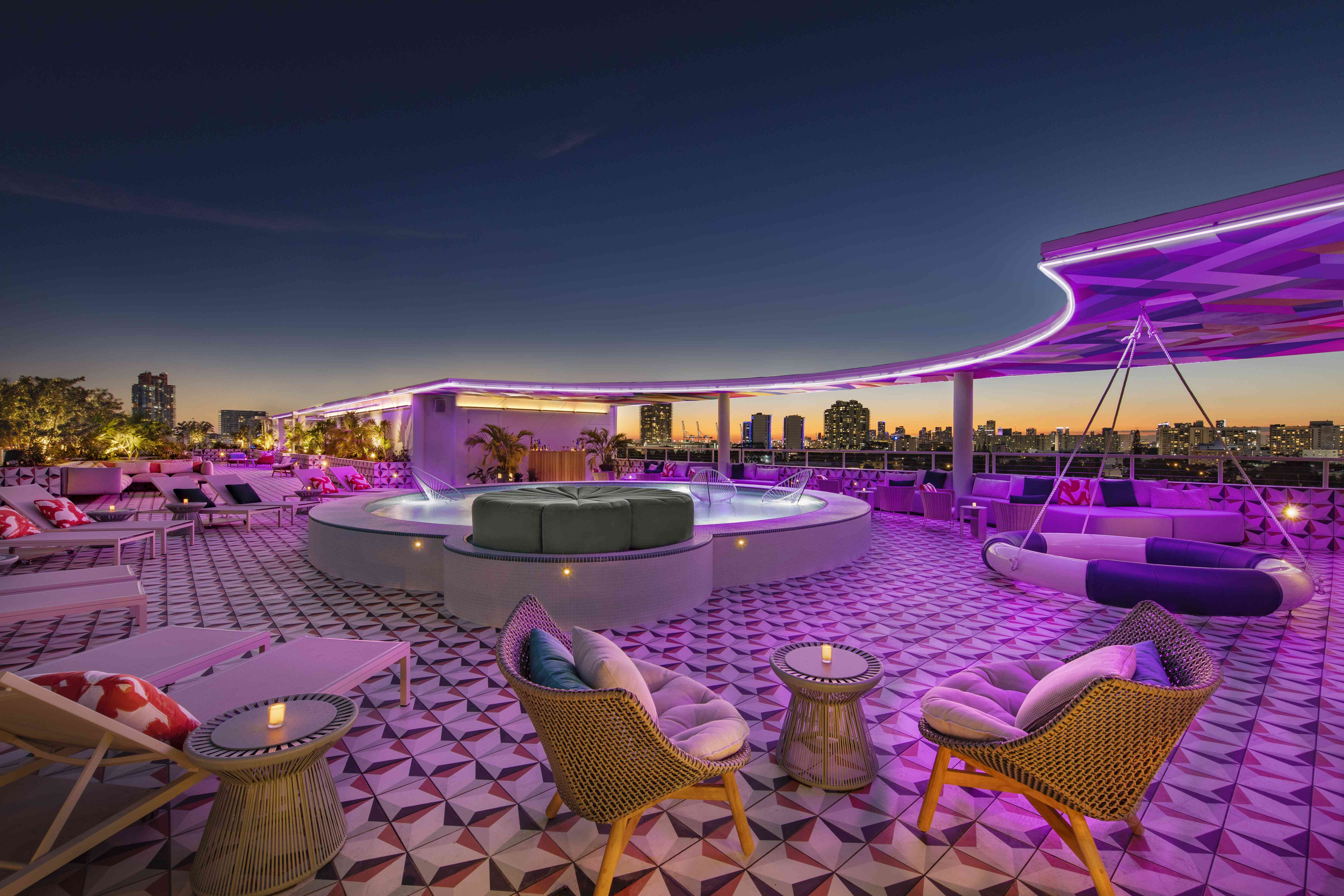 Moxy South Beach rooftop