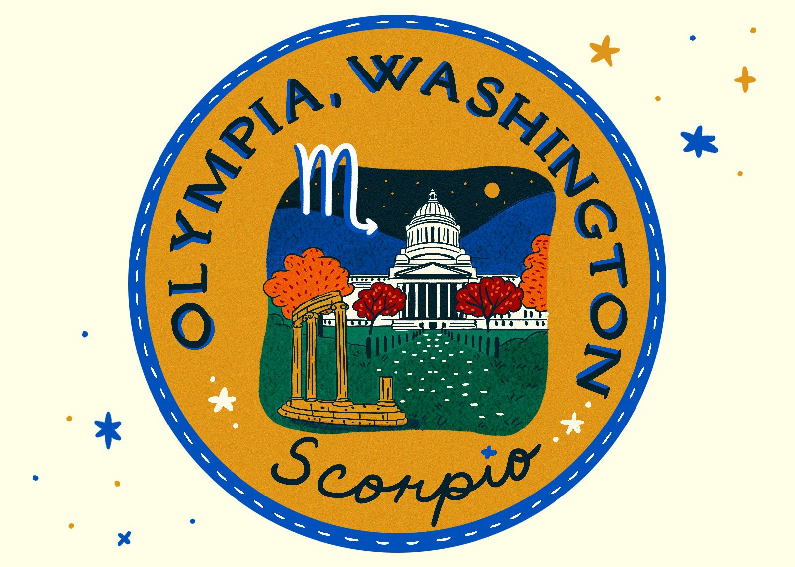 Illustration of Olympia, Washington