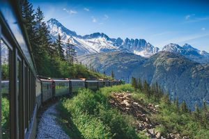 A train going through Alaska