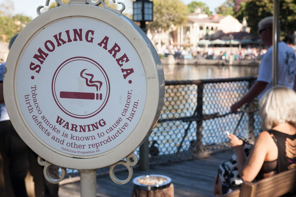 Smoking Area at Disneyland