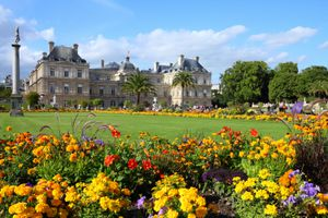 Luxembourg Palace and park Paris