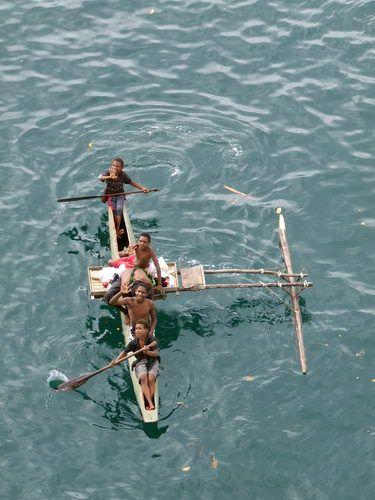 Outrigger Canoe on Papua New Guinea