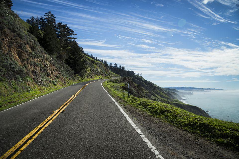 USA, California, Coast at Highway 1