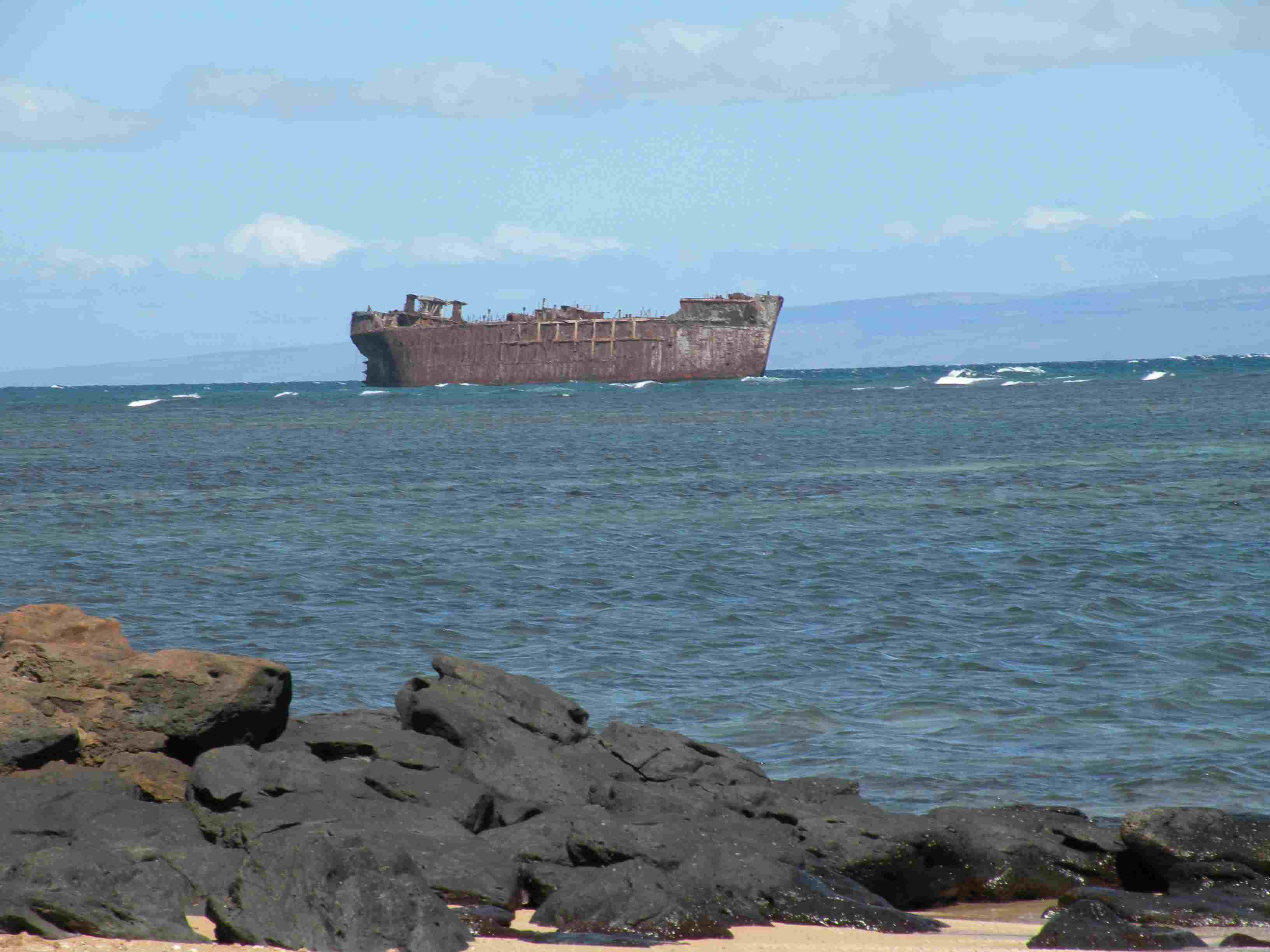 Shipwreck Beach in Hawaii.
