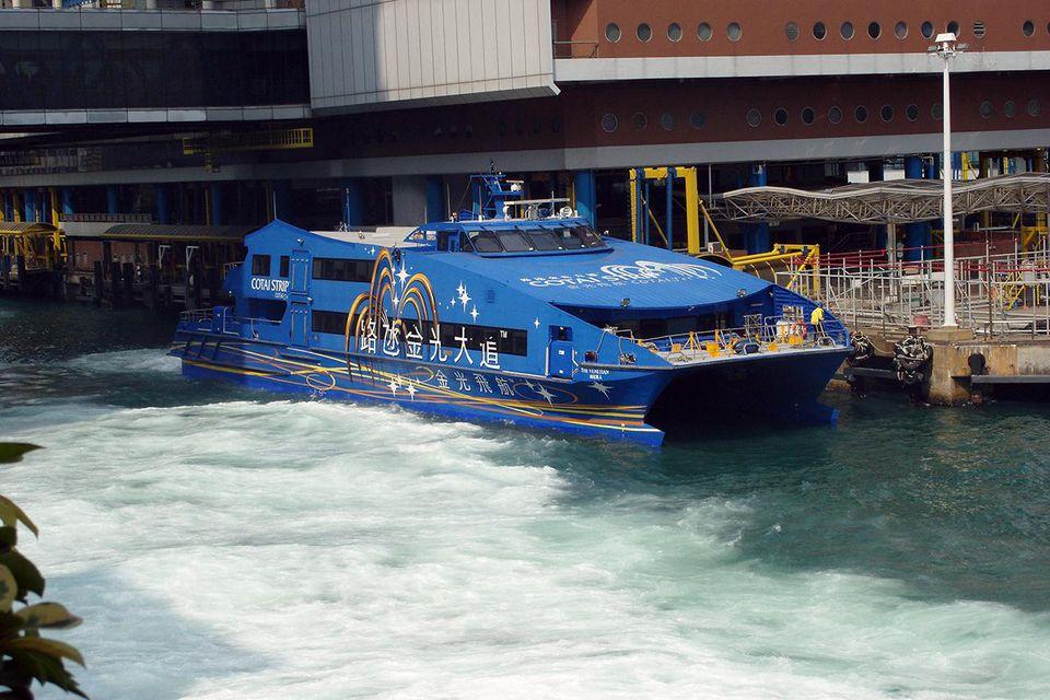 Blue Cotai Strip boat