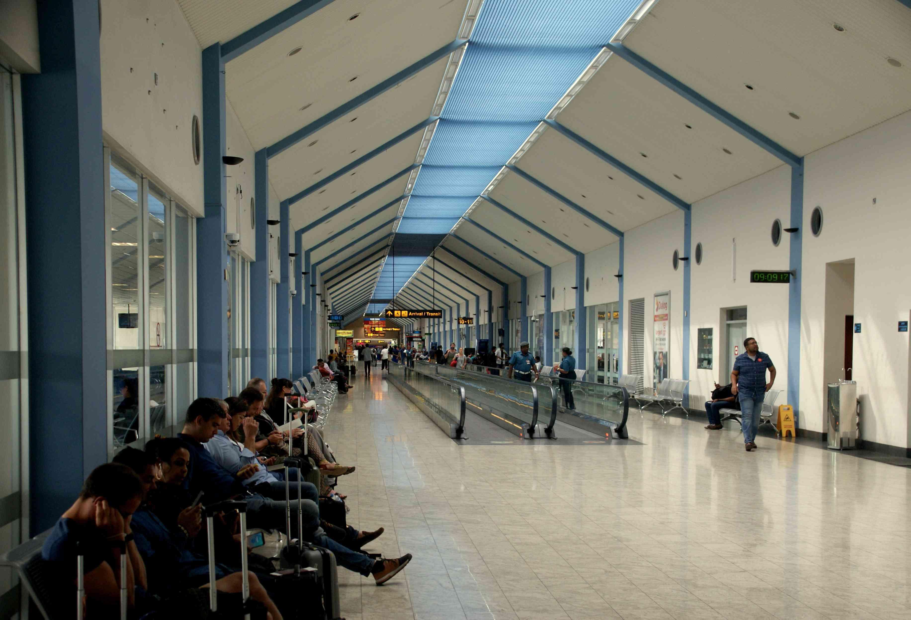 Waiting at Colombo airport, Sri Lanka