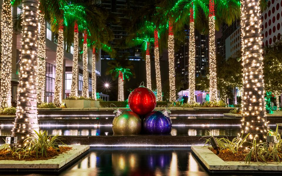 christmas decorations miami florida america