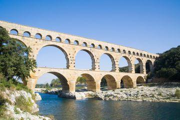Le Pont du Gard Aqueduct, Nimes, Provence, France