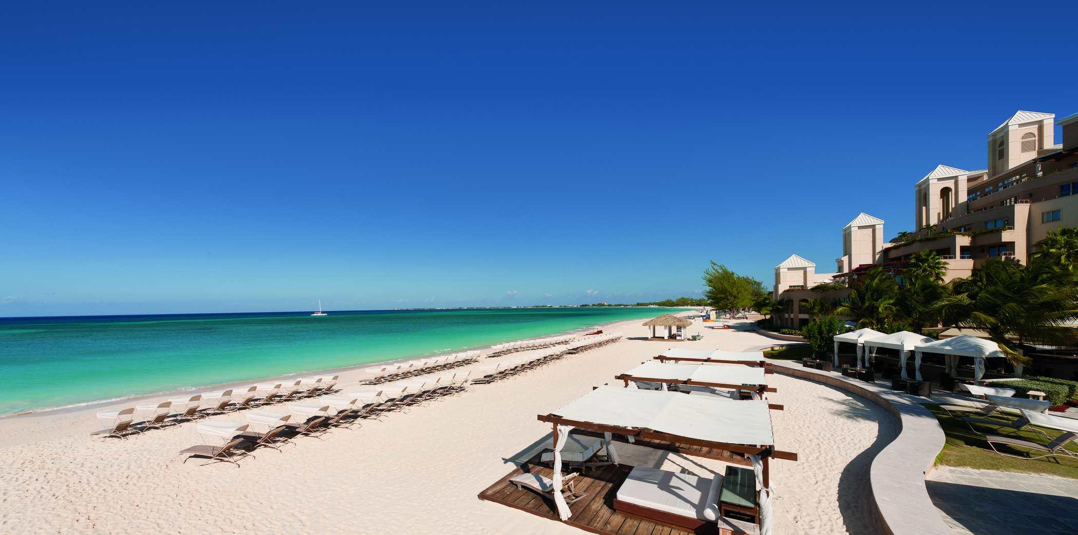 The beach at Ritz-Carlton Grand Cayman